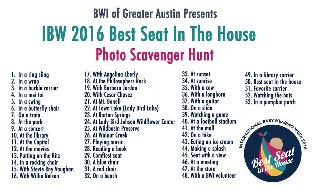 IBW 2016 Austin Photo Scavenger Hunt